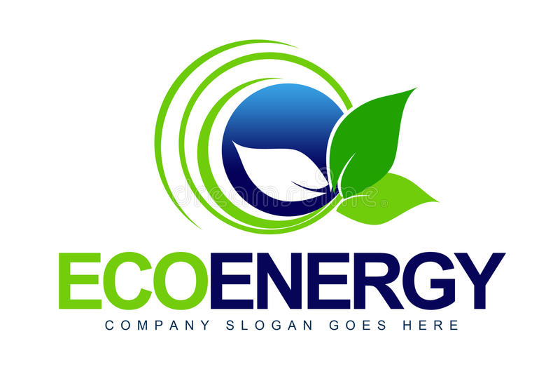 Листья логоса Eco бесплатная иллюстрация