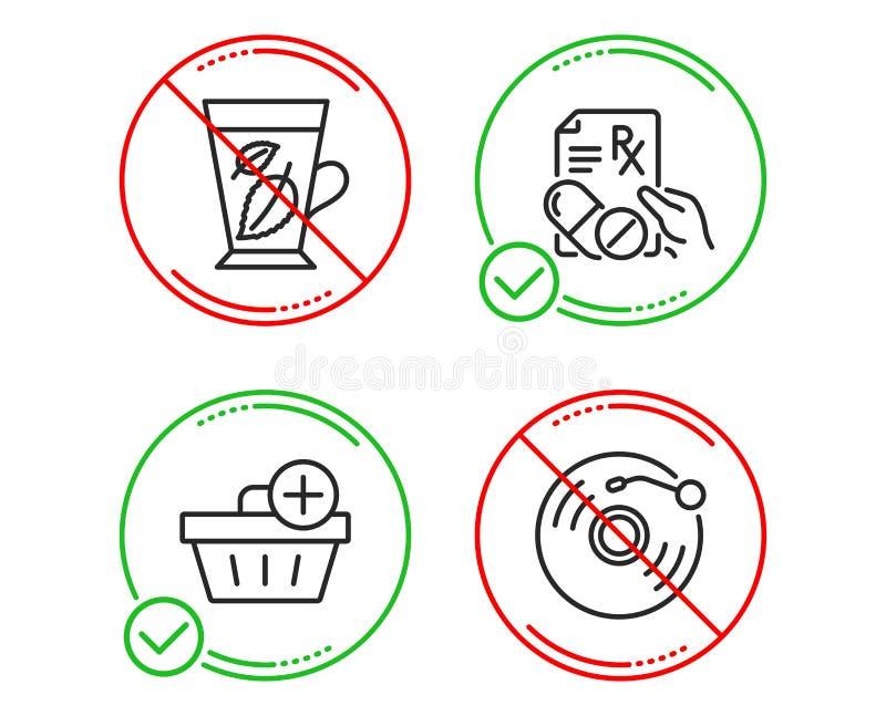 Листья мяты, добавляют набор приобретения и значков отпускаемых по рецепту лекарств Знак показателя винила r бесплатная иллюстрация
