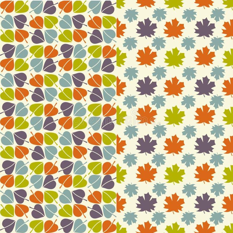 листья осени делают по образцу безшовное иллюстрация штока