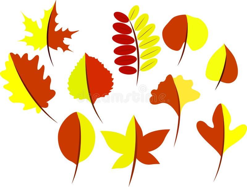 Листья осени дерева иллюстрация штока
