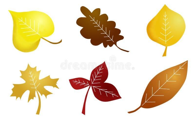 Листья осени наивные стоковое фото rf