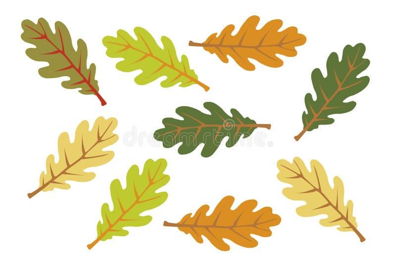 листья осени цветастые иллюстрация штока