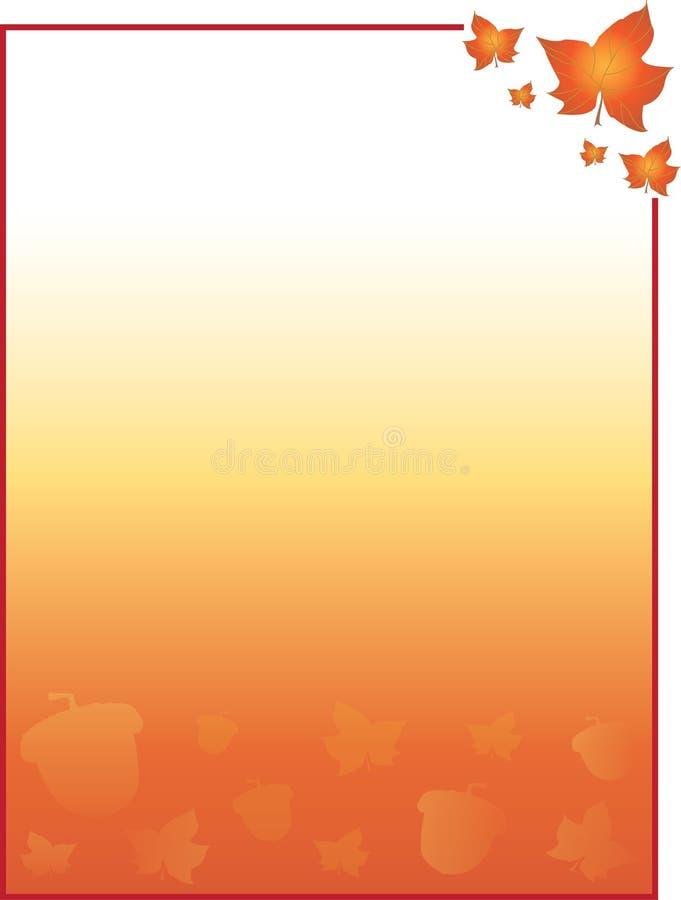 Листья падения и осени и предпосылка жолудей для карточек, рогулек, плаката, и больше иллюстрация вектора