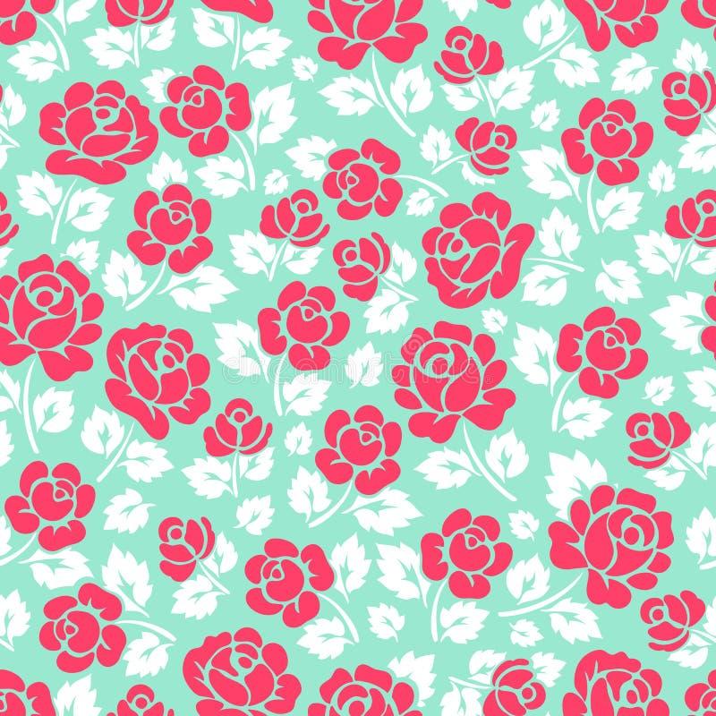 Листья розы и белизны пинка иллюстрация вектора