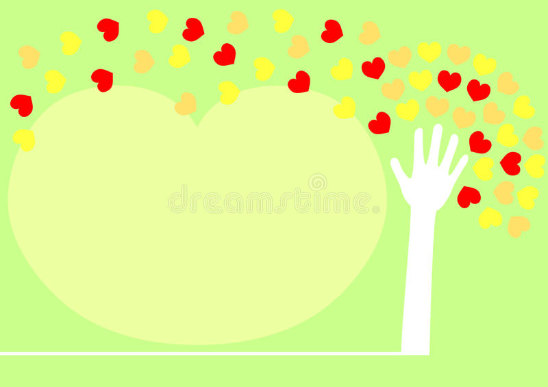 листья сердца руки распространяя вал бесплатная иллюстрация