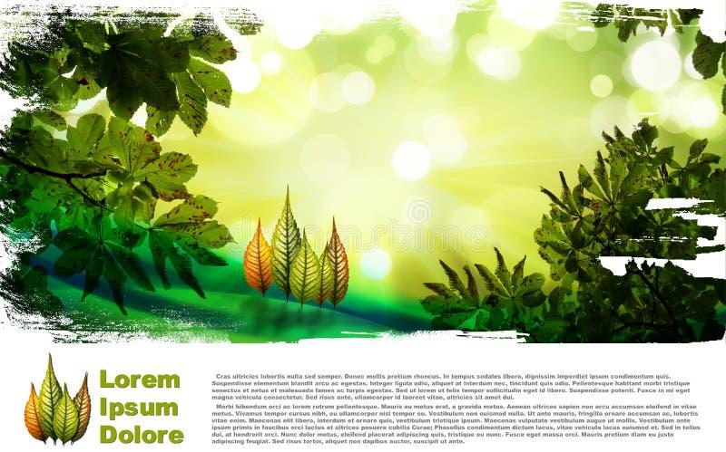 листья состава осени иллюстрация штока