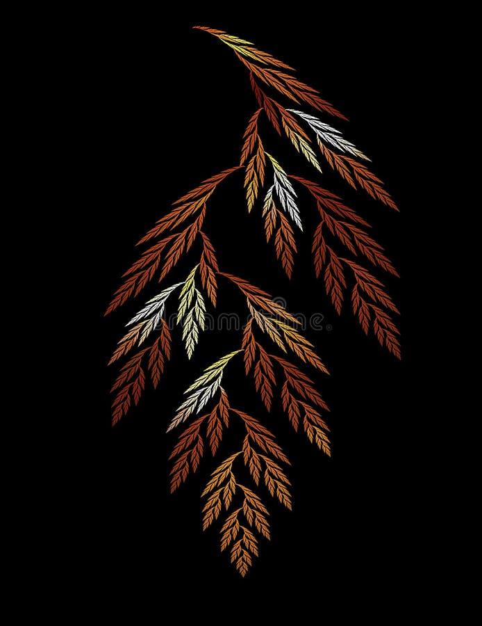 листья фрактали иллюстрация штока