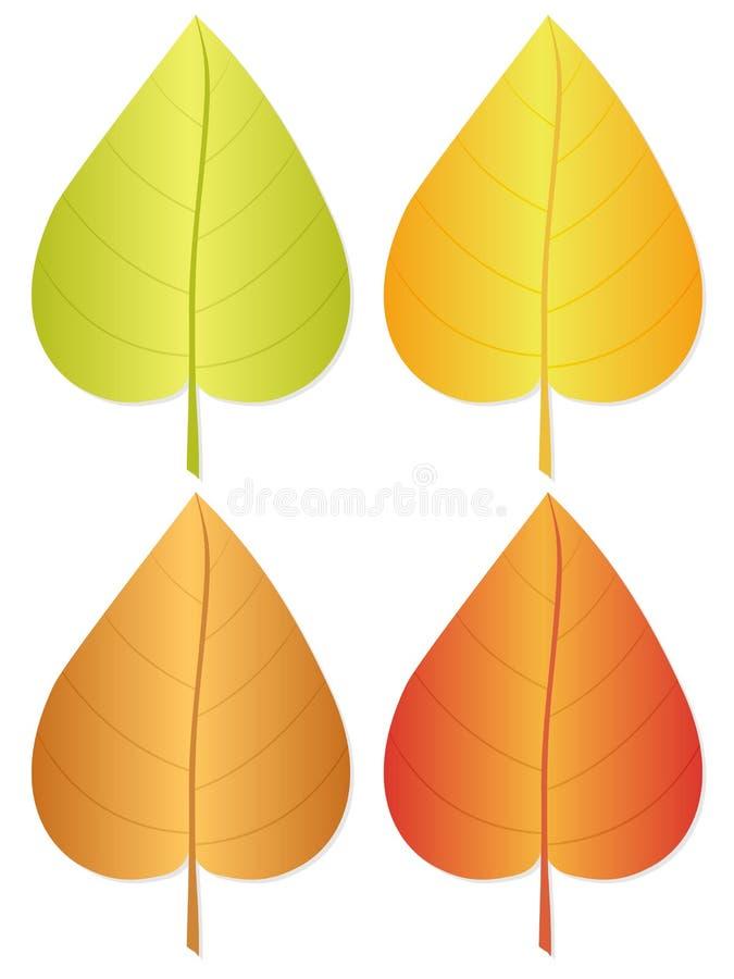 листья 3 осеней иллюстрация вектора
