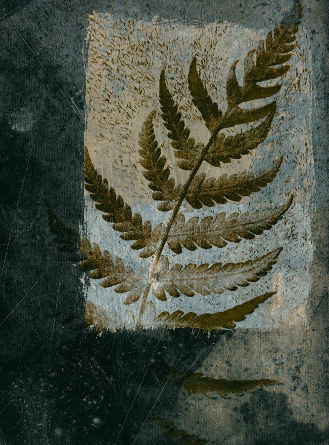 листья grunge карточки иллюстрация штока