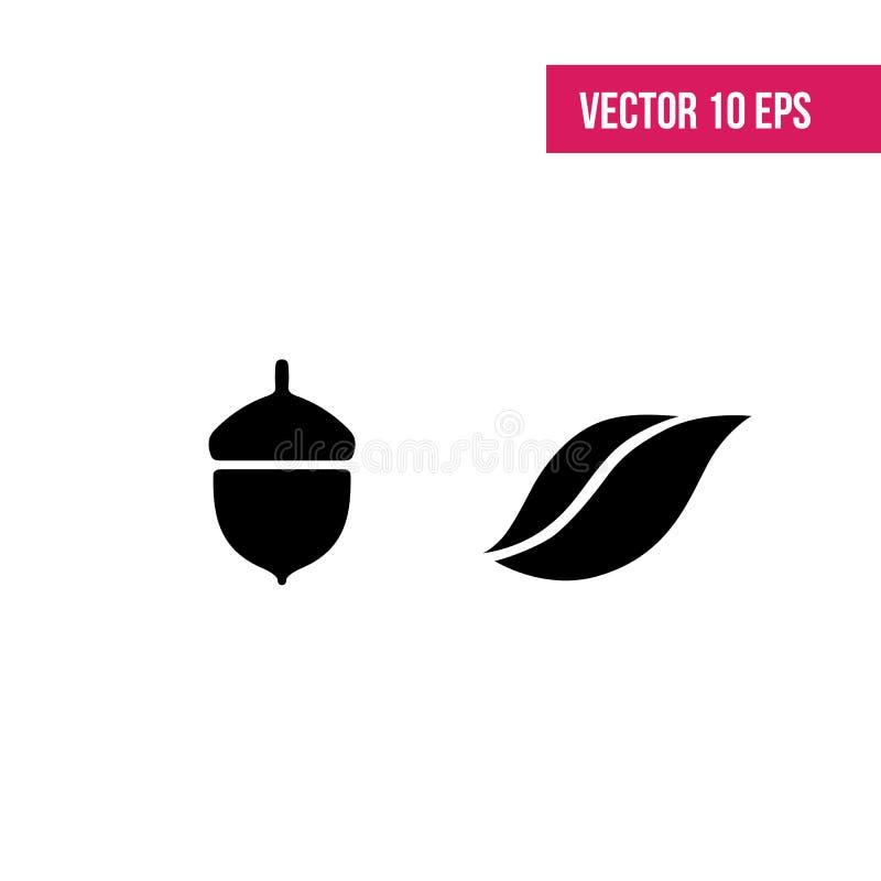 Листья vector комплект Листья изолированные от предпосылки Силуэты собрания черные листьев Знак листьев Гербарий бесплатная иллюстрация