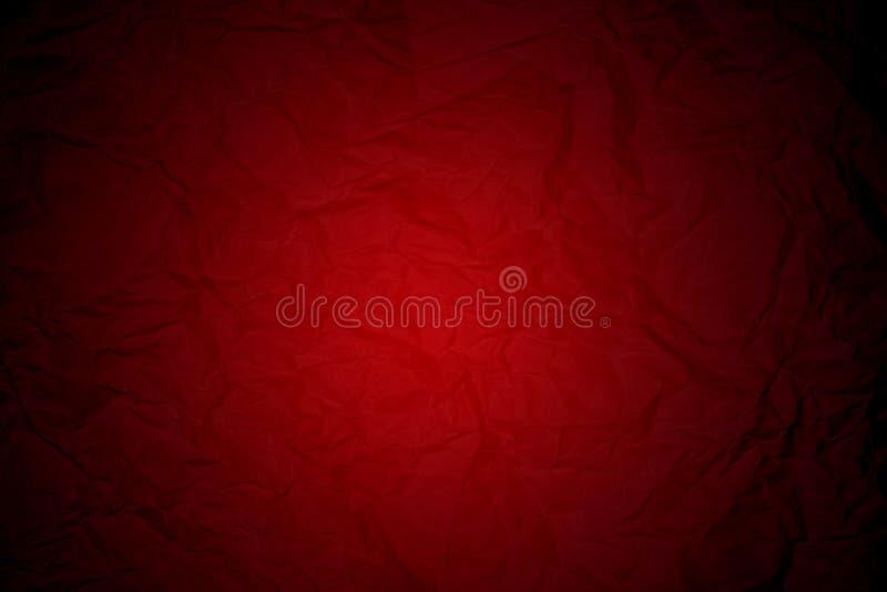 Лист бумаги сморщенный красным цветом стоковые изображения rf