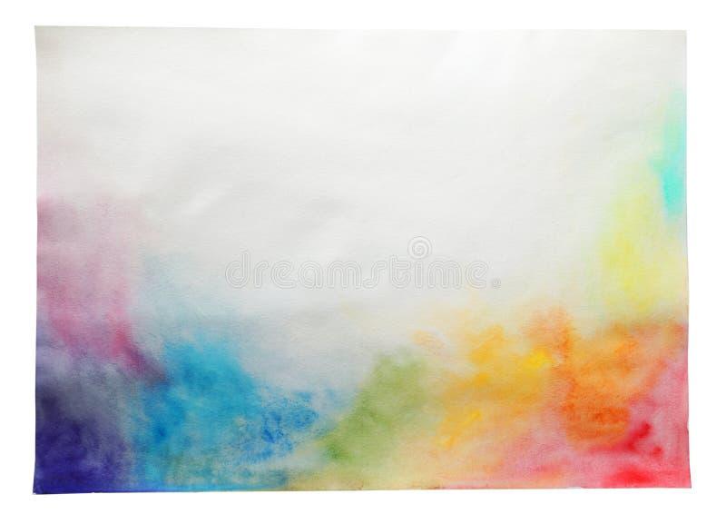 Лист бумаги с красочными красками стоковая фотография rf