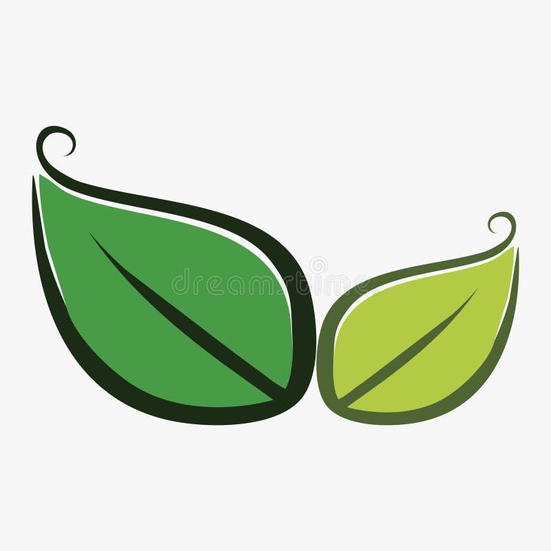 Лист, завод, логотип, экологичность, люди, здоровье, зеленый цвет, листья, комплект значка символа природы дизайнов иллюстрация штока