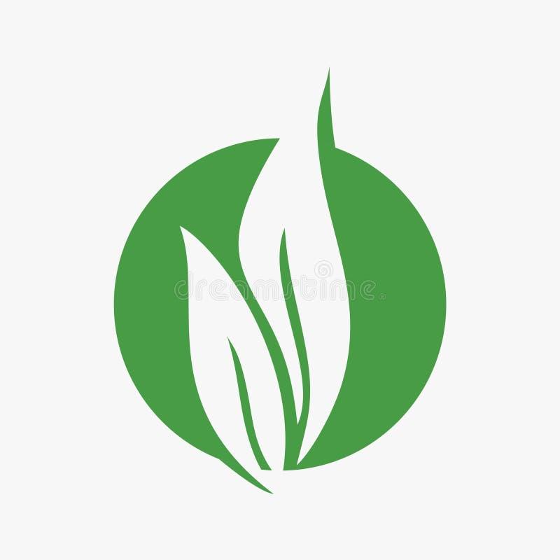 Лист, завод, логотип, экологичность, люди, здоровье, зеленый цвет, листья, комплект значка символа природы дизайнов бесплатная иллюстрация