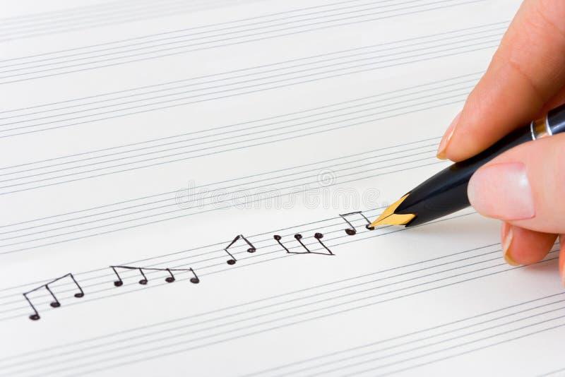 лист пер нот руки стоковое изображение