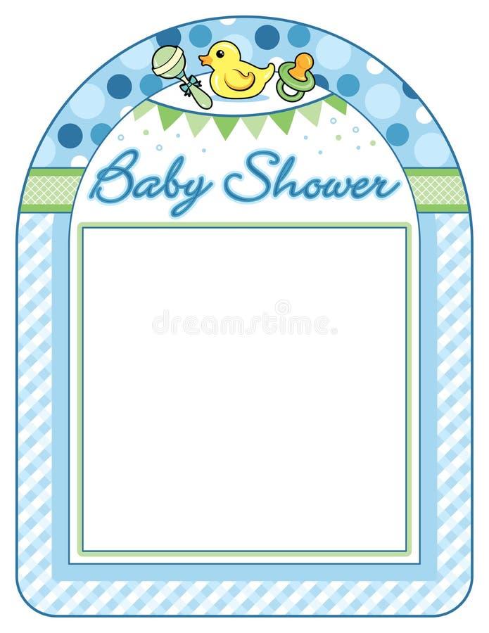 Лист печати рамки мальчика детского душа бесплатная иллюстрация