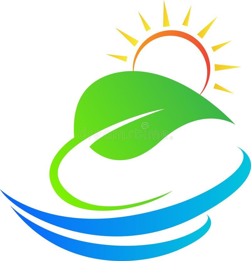 Лист с солнцем иллюстрация штока