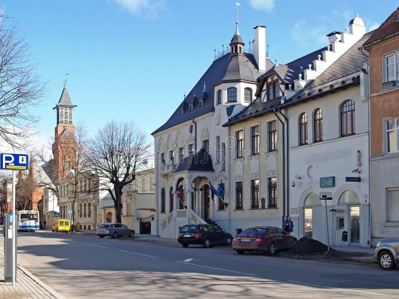 Литва Улица Liyep в Klaipeda стоковое фото