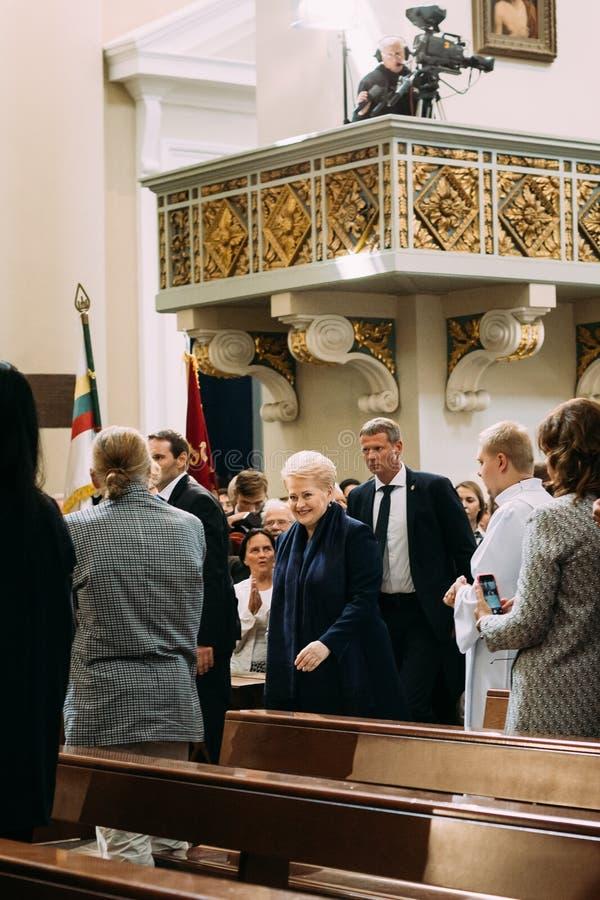 Литва vilnius Президент en Литвы Dalia Grybauskaite стоковые фото