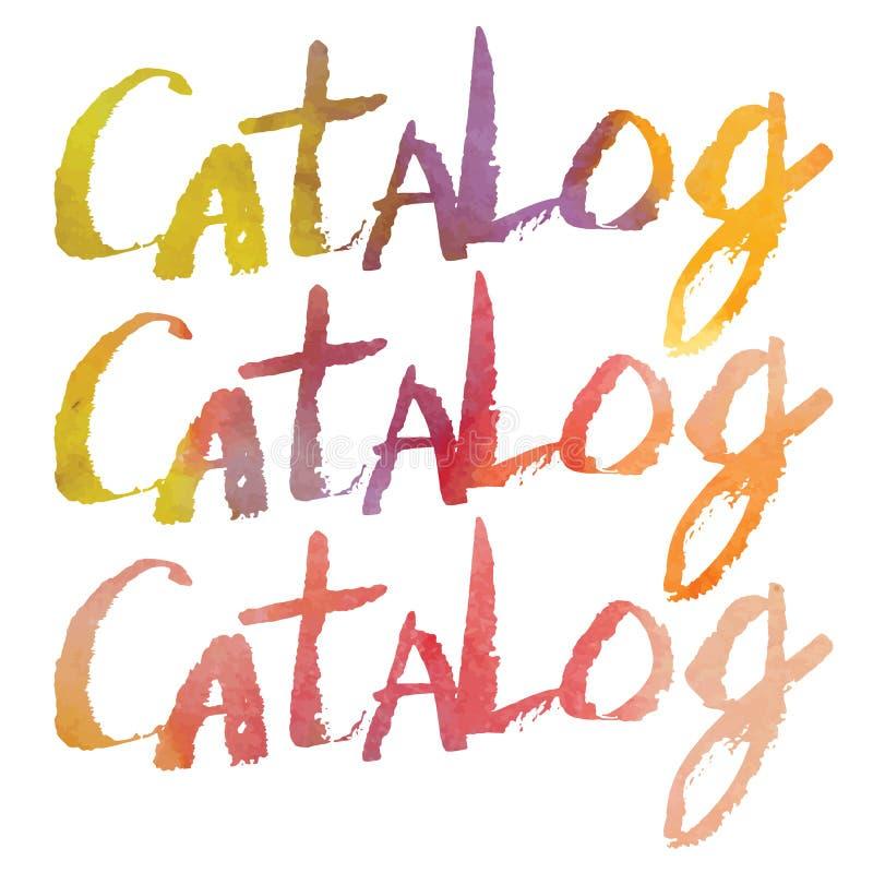 Литерность акварели каталог бесплатная иллюстрация