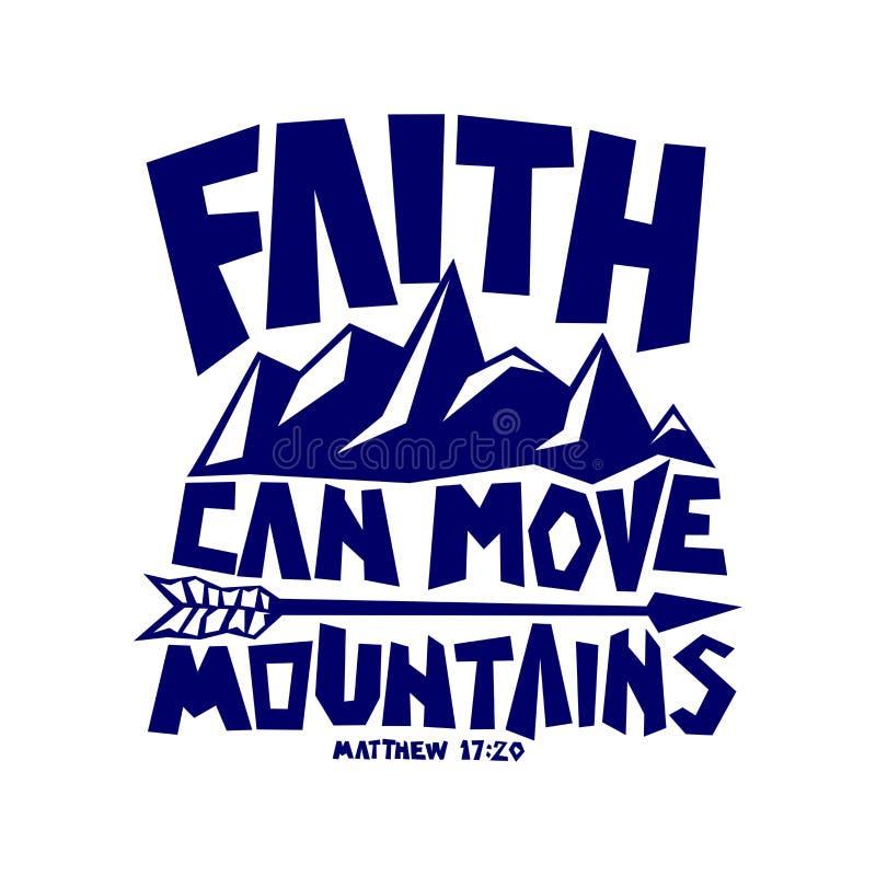 Литерность библии Христианское искусство Вера может двинуть горы бесплатная иллюстрация