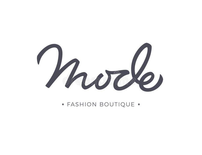 Литерность вектора магазина модной одежды режима иллюстрация штока