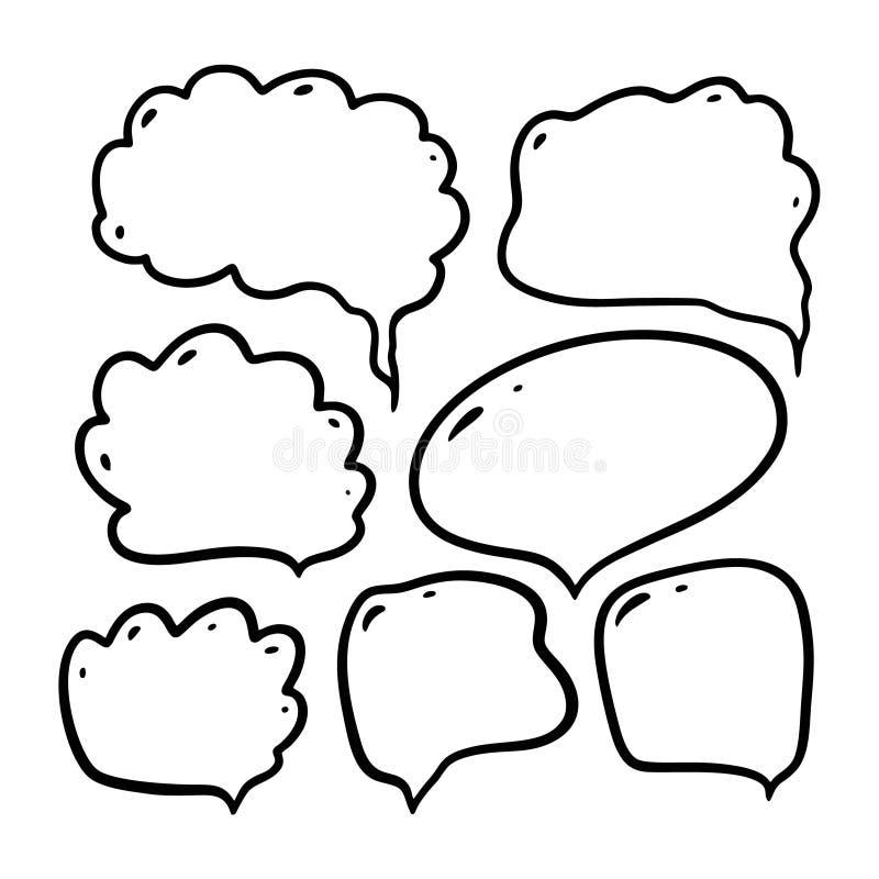 Литерность вектора руки doodle диалога пузыря вычерченная r бесплатная иллюстрация