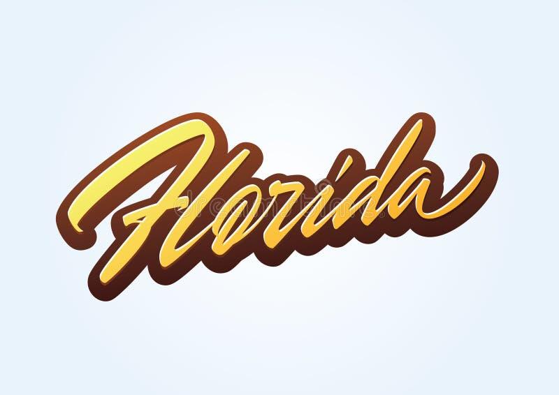 Литерность вектора сценария щетки Флориды стоковые изображения rf