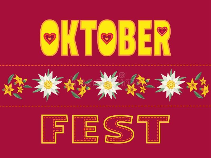Литерность вектора цвета руки Oktoberfest вычерченная плоская бесплатная иллюстрация