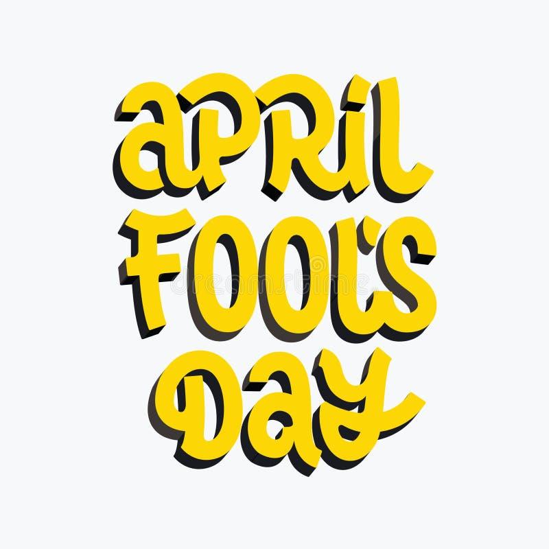 Литерность вектора щетки дня ` s дурачка в апреле бесплатная иллюстрация