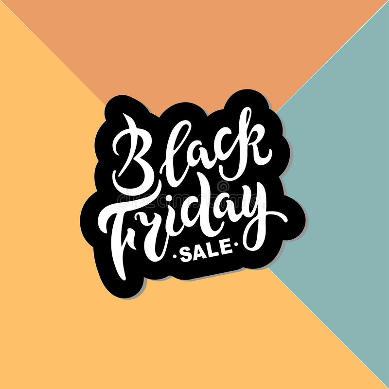 Литерность черной продажи пятницы рукописная иллюстрация штока