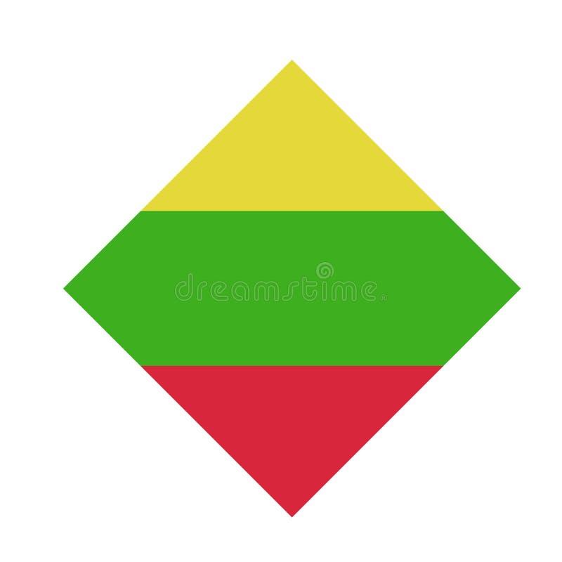 Литовский флаг - республика Литвы иллюстрация вектора