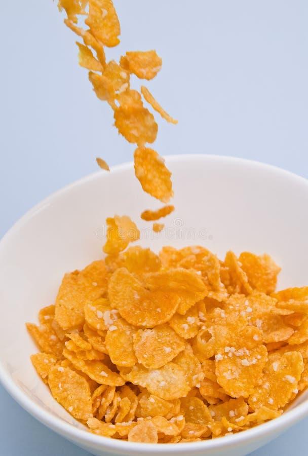 лить cornflakes стоковые фото
