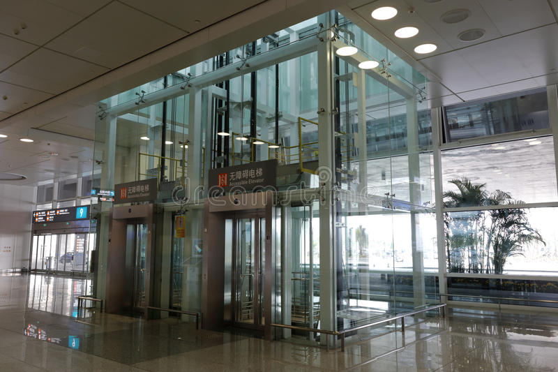 Лифт доступности t4 стержня, amoy город, фарфор стоковая фотография