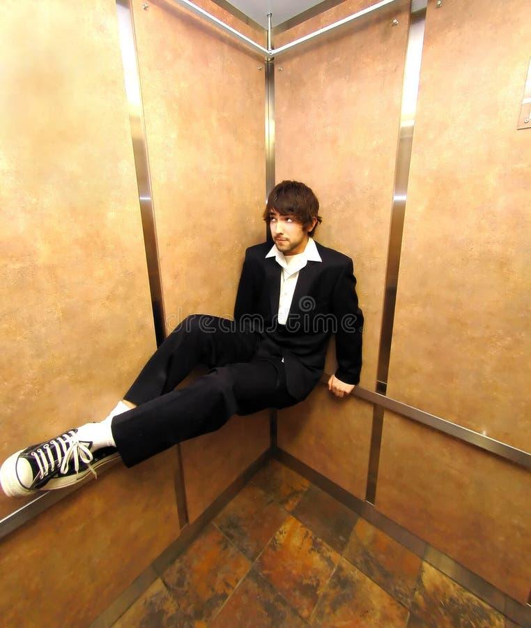 лифт сидит стоковая фотография