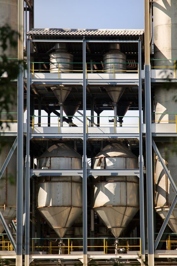 Лифт, силосохранилище зерна, блоки, сушильщик зерна стоковые фотографии rf