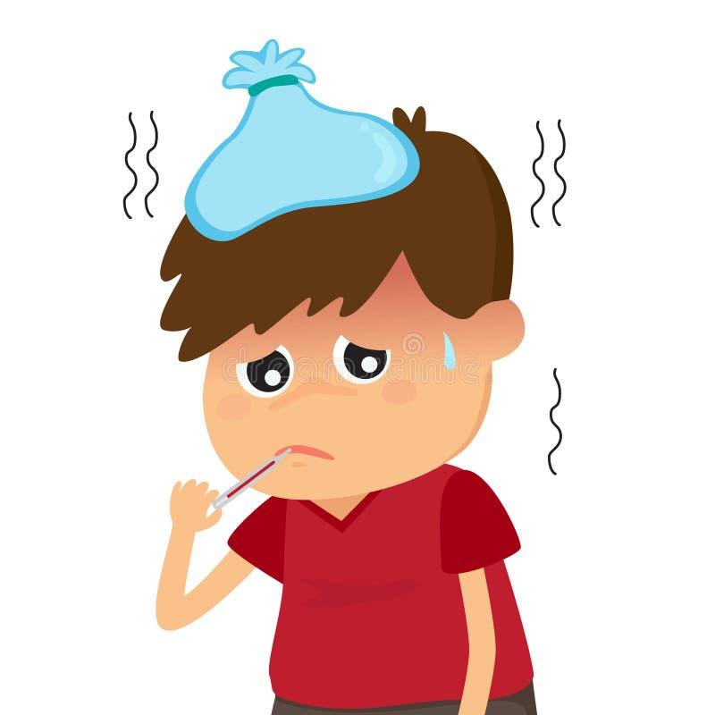Лихорадка в детях бесплатная иллюстрация