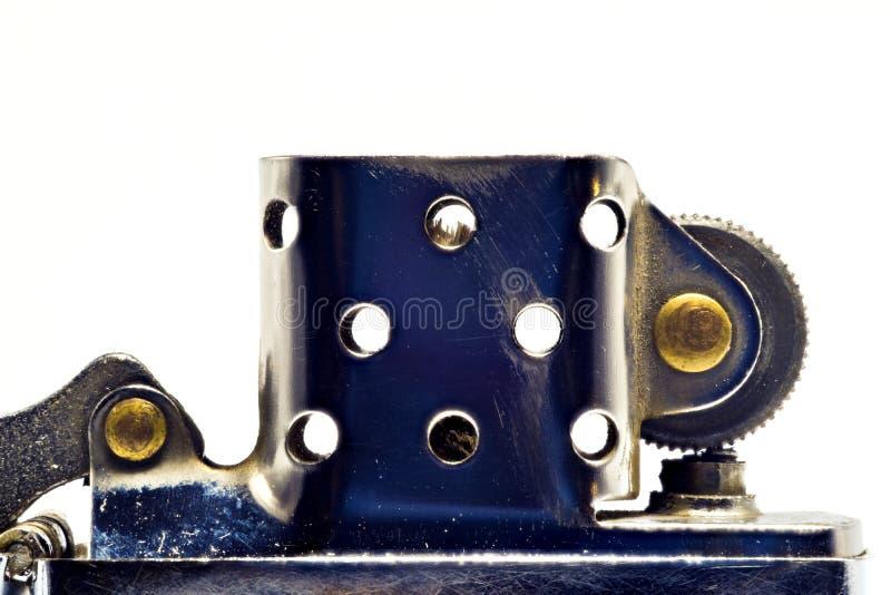 Лихтер сделанный из стали в открытой форме Серебряный цвет стоковое фото rf