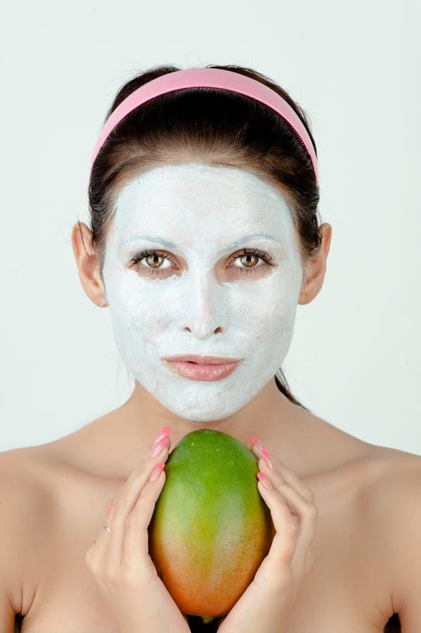 лицевая женщина маски стоковые изображения