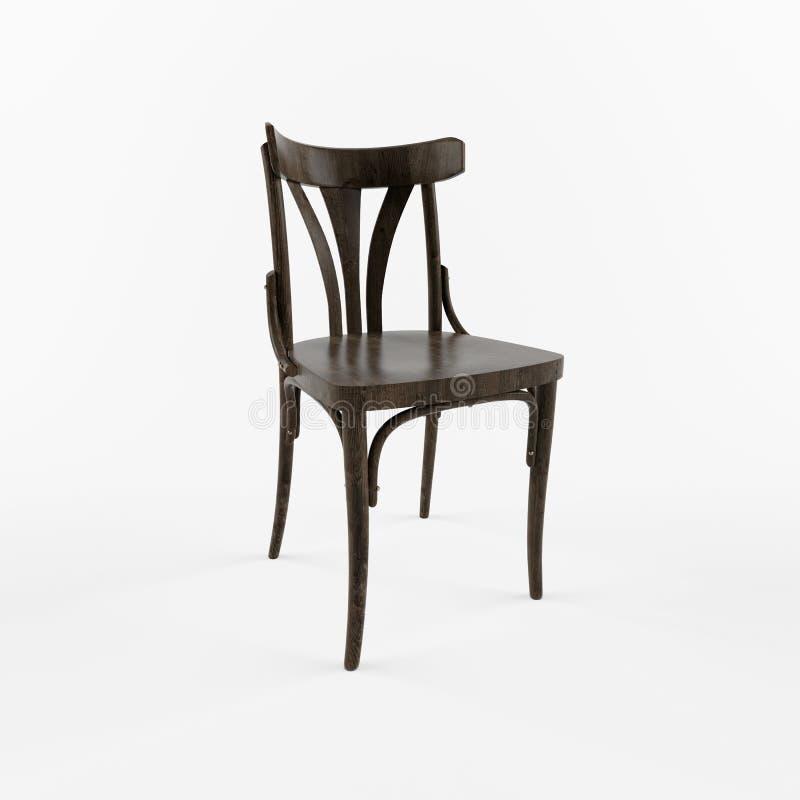 Лицевая сторона стула 3 d ретро стоковое изображение