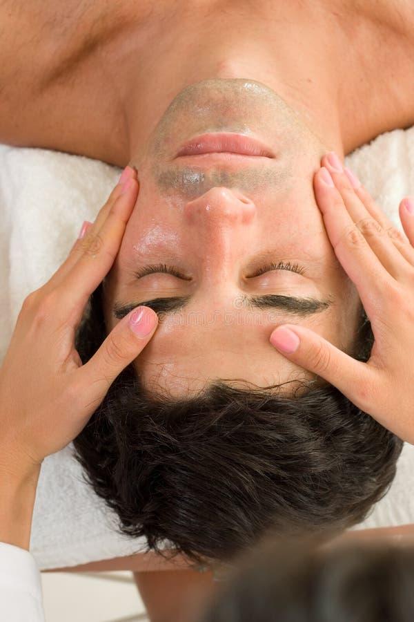 лицевой массаж стоковая фотография rf