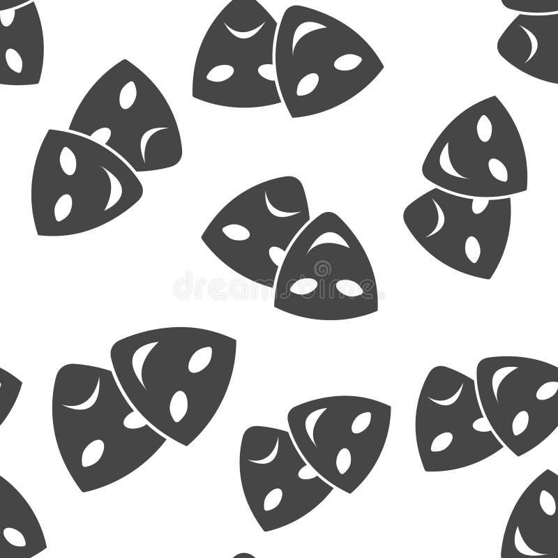 Лицевой щиток гермошлема изображения вектора театральный Драма и комедия, хохот и плача безшовная картина на белой предпосылке бесплатная иллюстрация