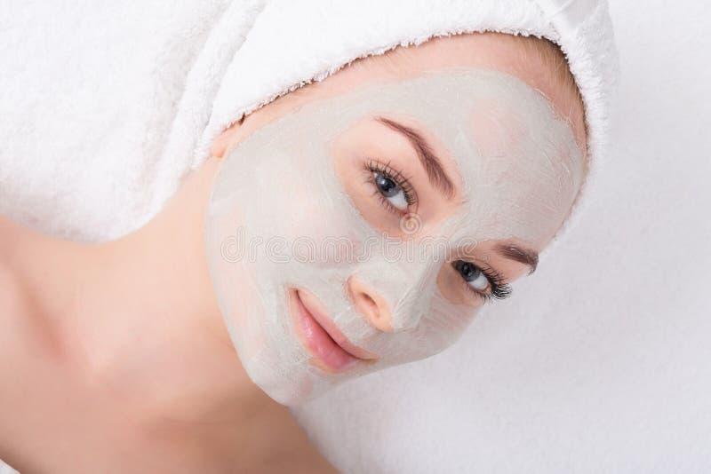 Лицевой щиток гермошлема, косметика курорта, skincare стоковое фото