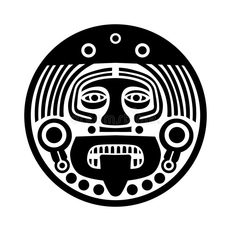 Лицевой щиток гермошлема Майя иллюстрация штока