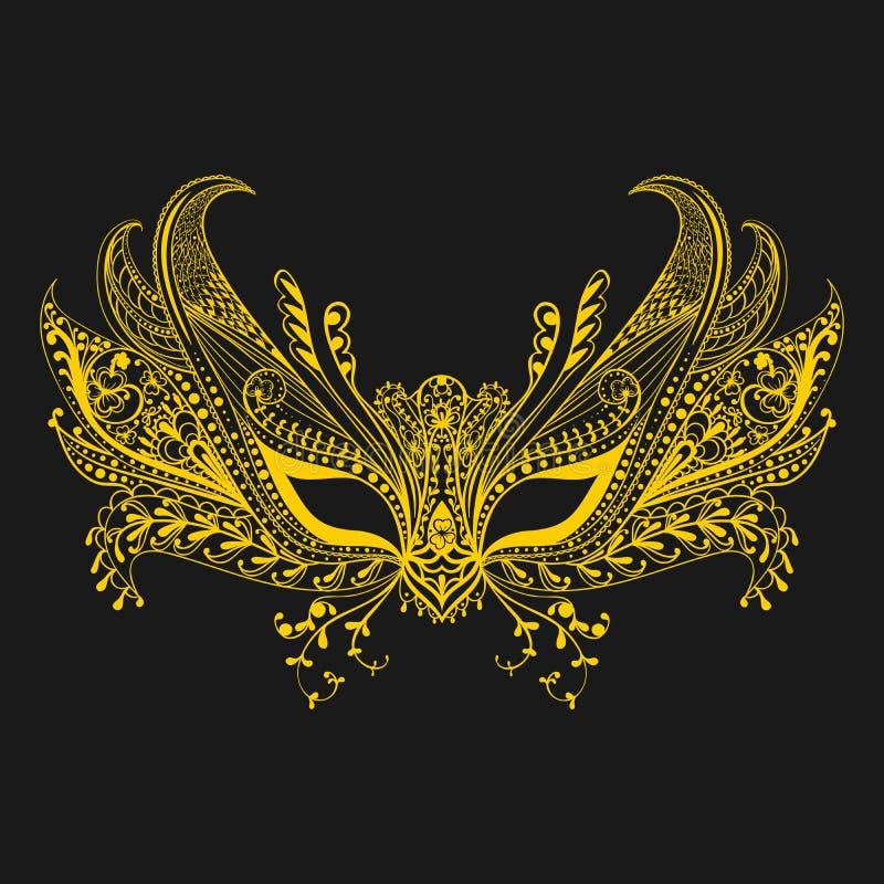 Лицевой щиток гермошлема масленицы в стиле zentangle символ venice Кружевной th иллюстрация штока