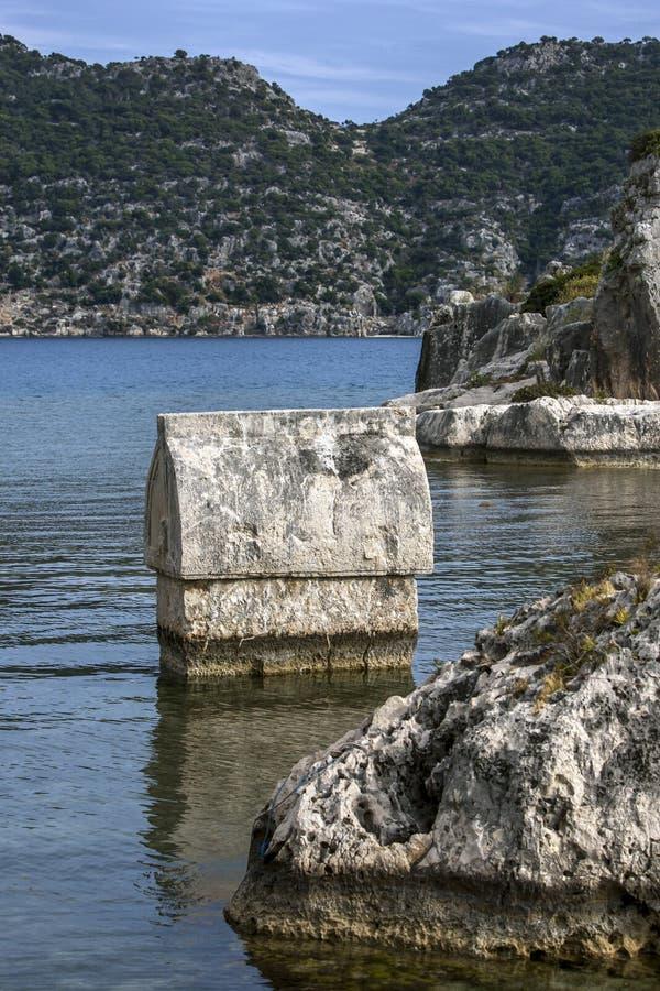Лицианская гробница в Калекое в Турции стоковое фото rf
