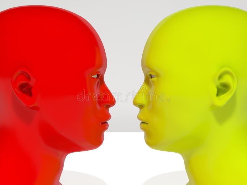 Лицом к лицу гуманоид бесплатная иллюстрация