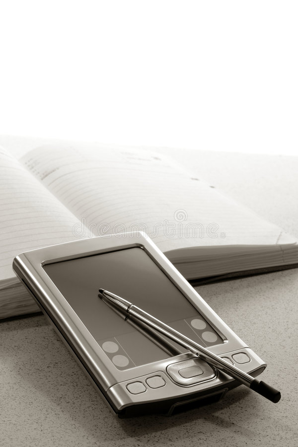 личная ассистентской книги назначения цифровая стоковое изображение rf