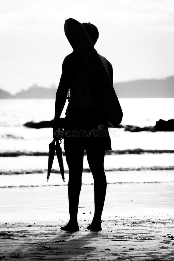 Личная охрана готовя море стоковое фото rf