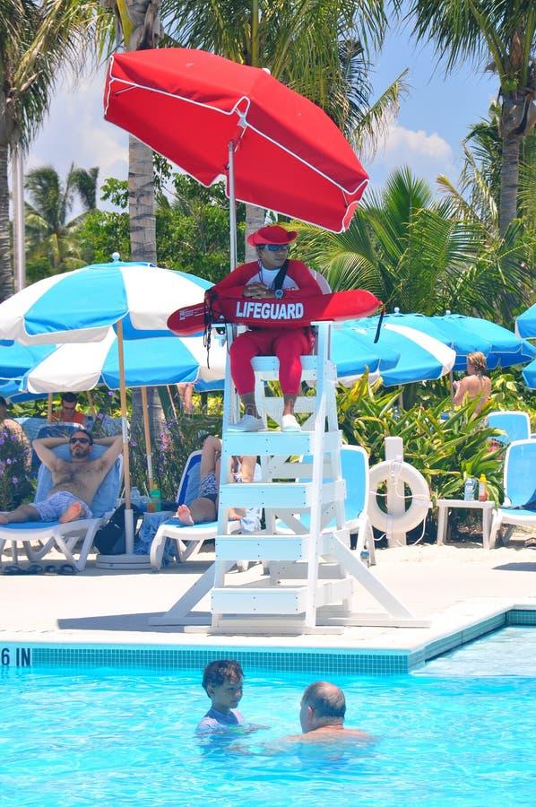 Личная охрана pook на острове CocoCay идеального дня стоковая фотография rf